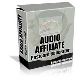 Product picture Audio/Video Affiliate Postcard Generator, Internet Marketing & Online Profits